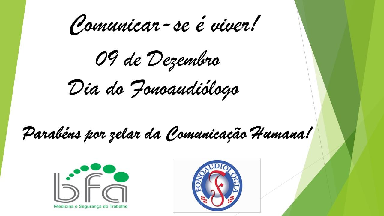 Feliz Dia do Fonoaudiólogo - 0912